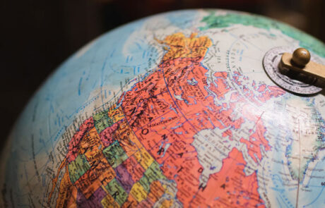Globe on Canada