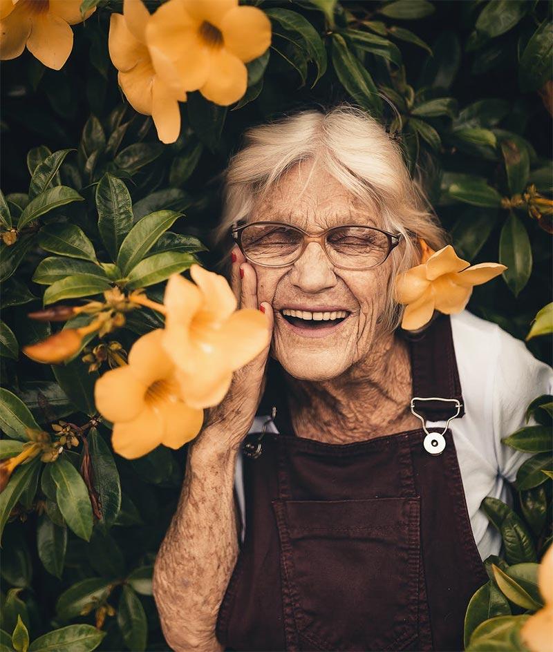 Women in flowers