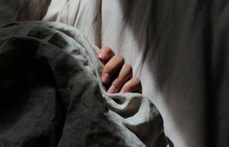 Hiding under blankets
