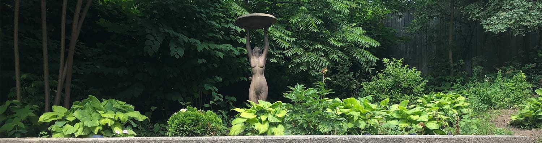 Stone Goddess in garden